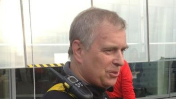 Prince Andrew at the bottom of The Shard.