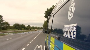 Police at the scene on the A444