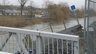 Parts of Hawick are still damaged.
