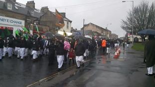Hundreds braved the rain in Bradford