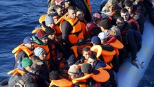 Migrants heading for Lesbos