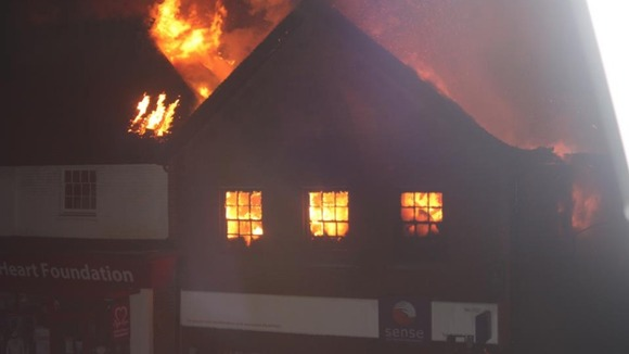 Fire takes hold of Sense charity shop