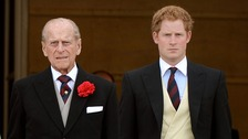 Looking good granddad: Philip and Harry show off their formal style