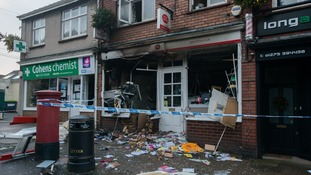 Three arrested after village cash machine is blown up