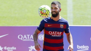 Barcelona signings Arda Turan and Aleix Vidal finally available after six months