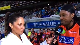 Chris Gayle asks TV reporter out in 'disrespectful' interview