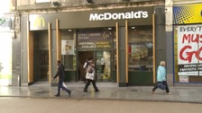 The prank was played at the McDonalds on Exeter High Street.