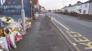 Tributes at the scene where three people lost their lives in Askern near Doncaster