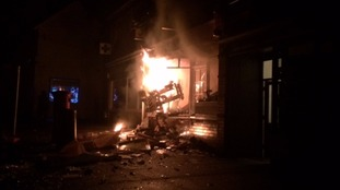 Cash machine fire