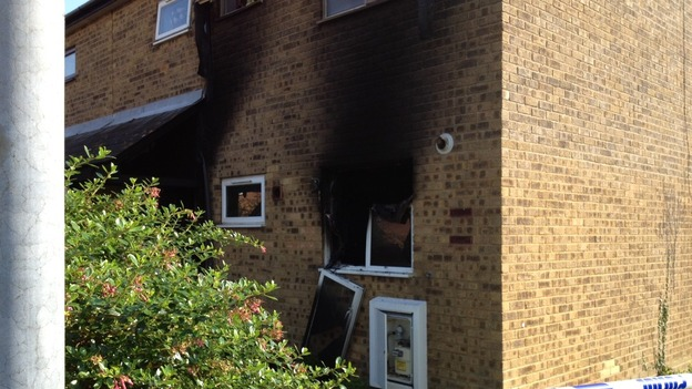 The scene of a fatal flat fire in Stubbington