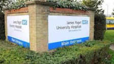 The James Paget Hospital in Norfolk has declared a major incident