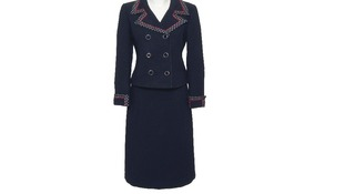 Worn at the 1972 Conservative Party Conference, as well as during the ballot for her to become Conservative Party Leader
