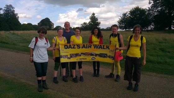 Darren (second from left) with his fellow walkers