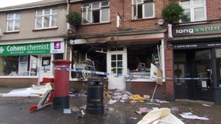 Post office wrecked by explosion in cash machine raid