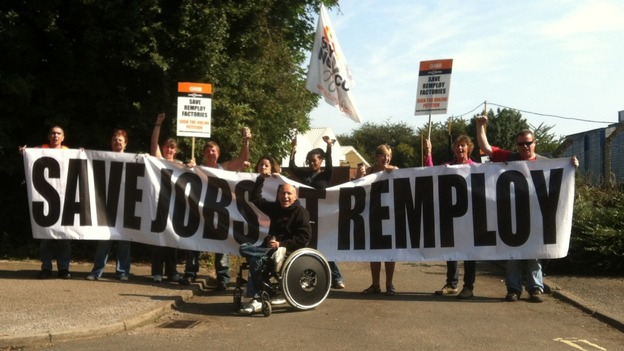 Remploy protestors
