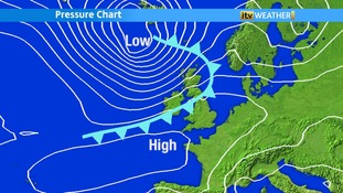 High Pressure bringing us settled weather this week.