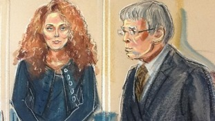 Rebekah Brooks spoke to confirm her name and listened to the charges being read out