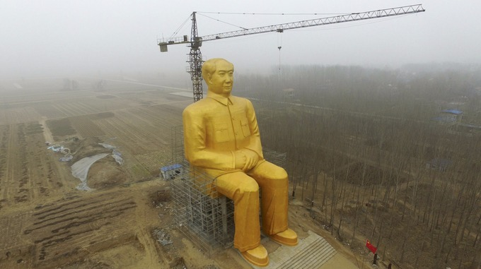 A giant statue of Mao has been built in the poorest region of China