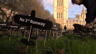 Campaigners against Heathrow expansion plant 2,000 paper planes