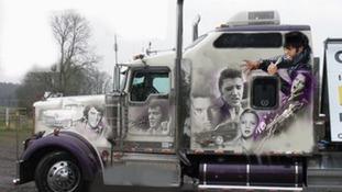 The Kenworth truck dedicated to Elvis