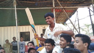 Indian schoolboy first person to score 1,000 in cricket match