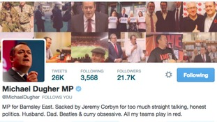 Michael Dugher's Twitter profile