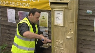 Ellie Simmonds' gold post box in Walsall