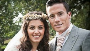 Pop star Katie Melua and her husband James Toseland.