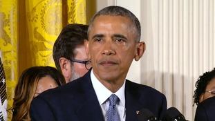 President Obama broke down in tears during his address