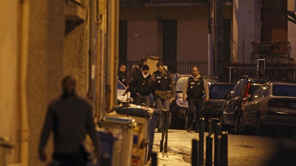 French police at the scene of the stand-off in Toulouse.