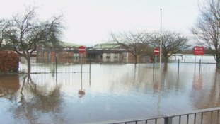 Newman School during the December flooding