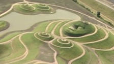 Northumberlandia from above