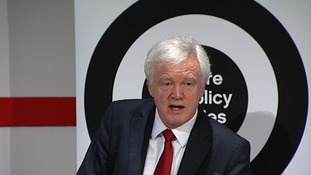 David Davis speaking at the Centre for Policy Studies