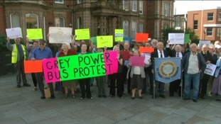 Protest over free pensioner bus travel in Stoke-on-Trent