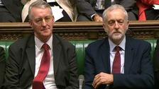 Hilary Benn and Jeremy Corbyn