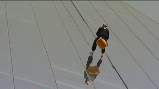 Abseiling down the Shard in London