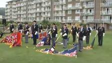 Merchant Navy veterans pay tribute