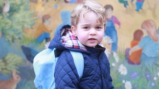 Duchess of Cambridge releases snaps of Prince George attending his first day of nursery