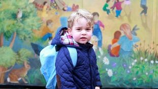PICTURES: Prince George's first day of nursery