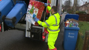 A billion Christmas cards will also end up in the bin.