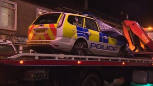 12 year old girl seriously injured after a collision with a police car in Camborne