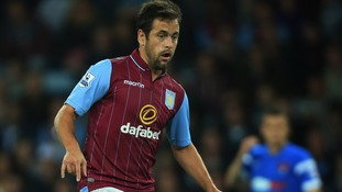 Joe Cole during the Capital One Cup Second Round match at Villa Park against Leyton Orient