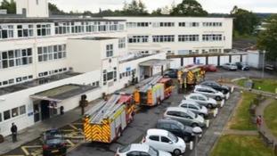 Fire crews at hospital