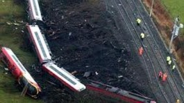 The scene of the crash at Greyrigg in Cumbria