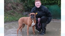 Emma with rescue dog Penny