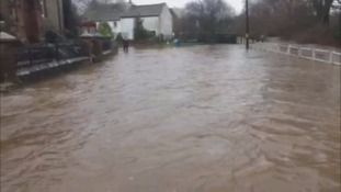 Warcop was flooded in December.