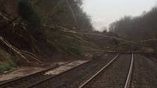 The landslip near Corbridge.