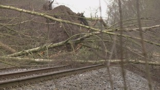 The landslide happened east of Corbridge