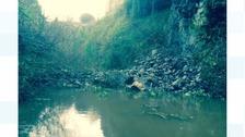 Huge rock fall blocks canal
