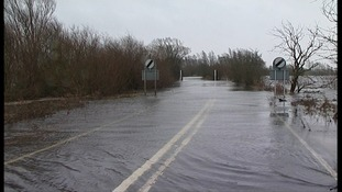 The A1101 is prone to winter flooding - here in 2008